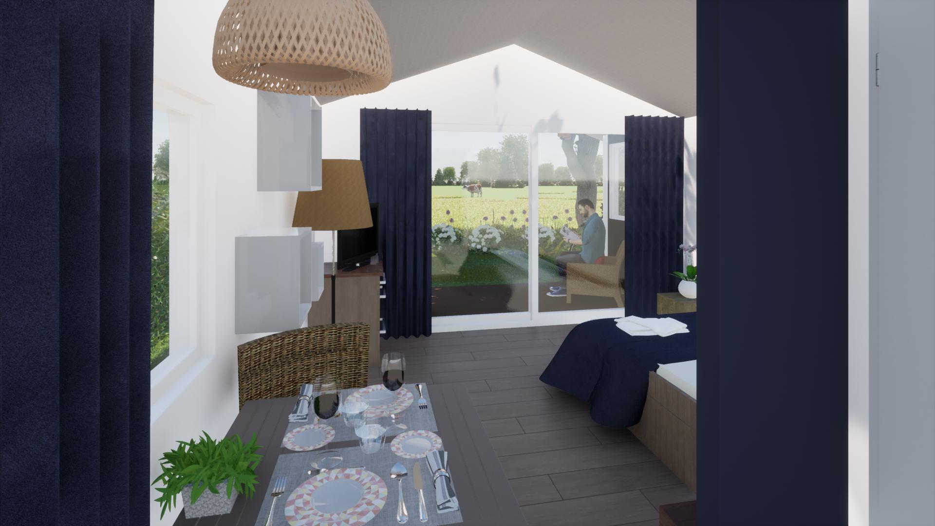 Binnenzijde welstaete suites met uitzicht bij Grenzeloos